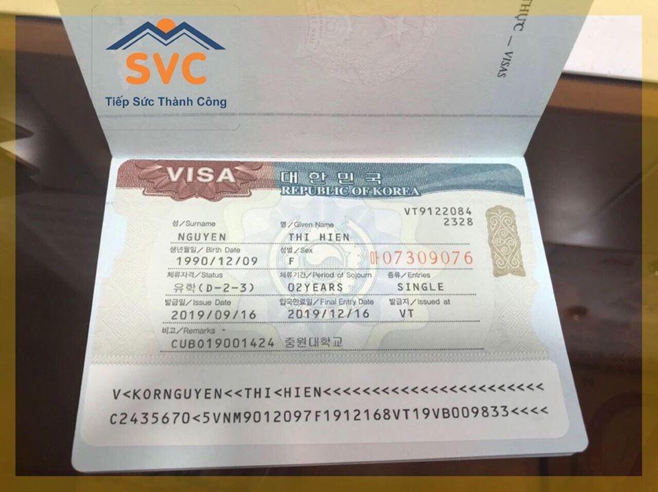 Visa du học Hàn Quốc dành cho du học sinh